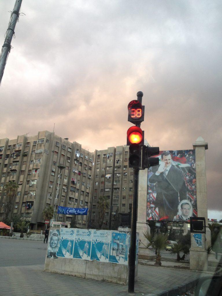 affiche de Bachar al Assad, Damas