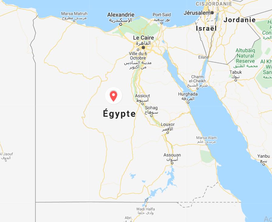 carte Egypte saradaniel